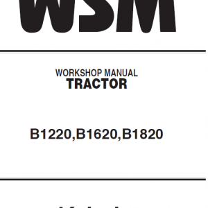Kubota B1220, B1620, B1820 Tractor Workshop Manual