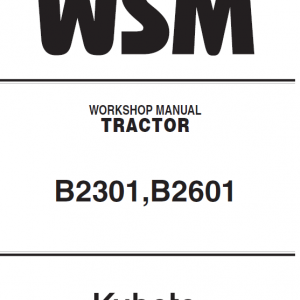 Kubota B2301, B2601 Tractor Workshop Service Manual