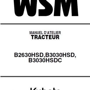 Kubota B2630HSD, B3030HSD Tractor Workshop Manual