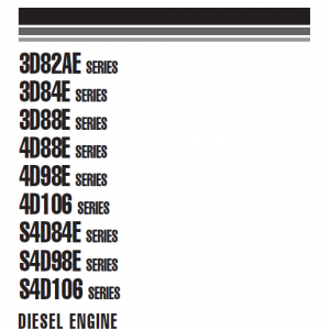 Komatsu 3D82AE, 3D84E, 3D88E Series Engine Manual