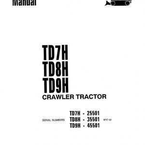 Komatsu TD7H, TD8H, TD9H Dozer Service Manual