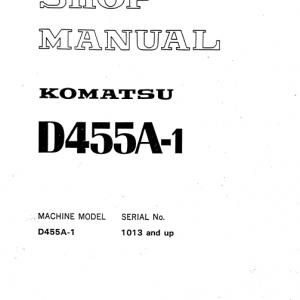 Komatsu D455A-1 Dozer Service Manual