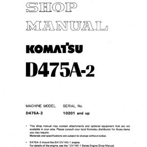 Komatsu D475A-2 Dozer Service Manual