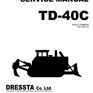 Komatsu TD-40C Dozer Service Manual