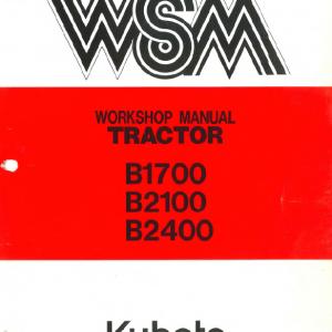 Kubota B1700, B2100, B2400 Tractor Workshop Service Manual