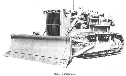 Bulldozer D80A-12, D85A-12