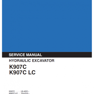 Kobelco K907C and K907C LC Excavator Service Manual