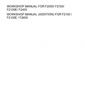 Kubota F2000, F2100, F2400 Front Mower Workshop Manual
