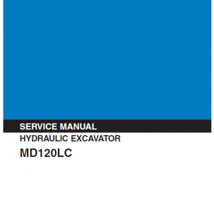 Kobelco MD120LC Excavator Service Manual