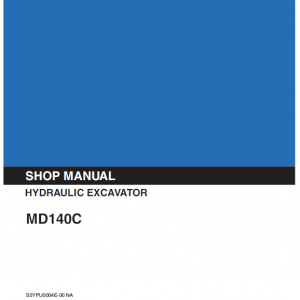 Kobelco MD140C Excavator Service Manual