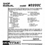 Kobelco MD200C Excavator Service Manual