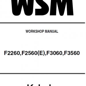 Kubota F2260, F2560, F3060, F3560 Front Mower Workshop Manual