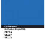 Kobelco SK024, SK027, SK032 Excavator Service Manual