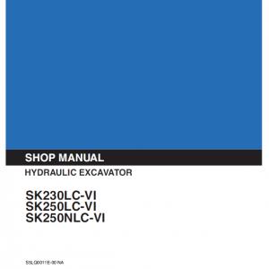 Kobelco SK230LC-6, SK250LC-6. SK250NLC-6 Excavator Service Manual