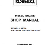 Nissan NE6T model LK600A Engine Workshop Service Manual