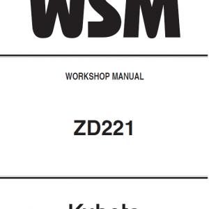 Kubota ZD221 Mower Workshop Service Manual