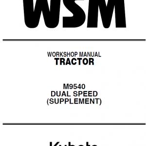 Kubota M8540, M9540 Tractor Workshop Service Manual