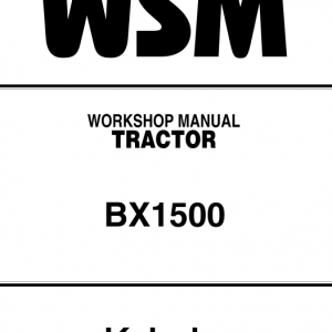 Kubota BX1500 Tractor Workshop Service Manual
