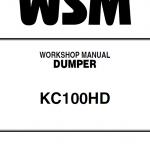 Kubota KC100HD Dumper Workshop Manual