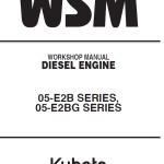 Kubota 02-E2B, 05-E2BG Engine Workshop Service Manual