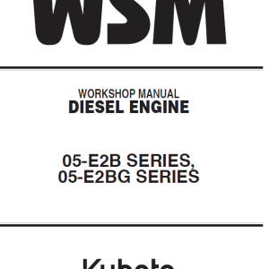 Kubota 02-E2B, 05-E2BG Engine Workshop Service Manual