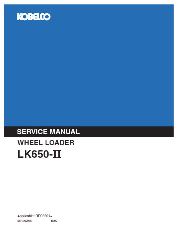 Kobelco LK650-II Wheel Loader Service Manual