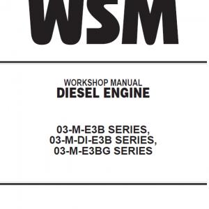 Kubota 03-M-E3B, 03-M-DI-E3B, 03-M-E3BG Workshop Manual