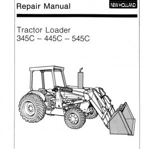 Ford 345C, 445C, 545C Backhoe Tractor Loader Service Manual