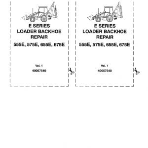 Ford 555E, 575E, 655E, 675E Backhoe Loader Service Manual