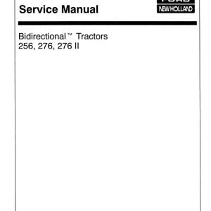 Ford Versatile 256, 276, 276II Tractors Service Manual
