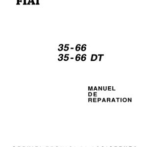 Fiat 33-66, 33-66 DT Tractor Workshop Service Manual