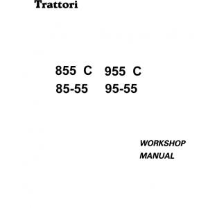 Fiat 85-55, 95-55, 855C, 955C Tractor Service Manual